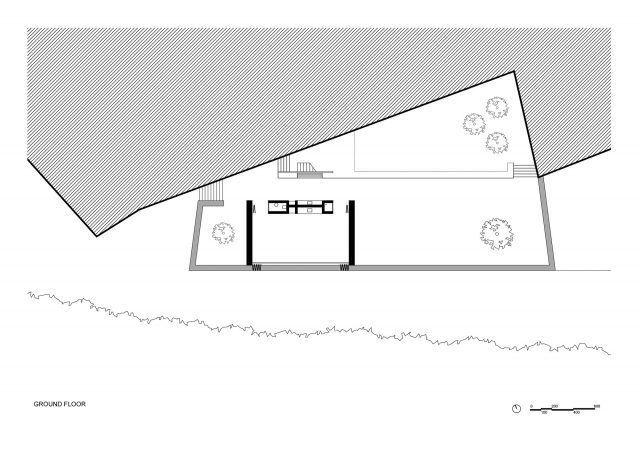 B2 Evi zemin kat planı- Han Tümertekin