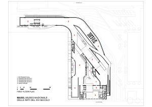 MAXXI Müzesi / Zaha Hadid Plan