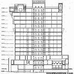 Portland Binası - Michael Graves kesit