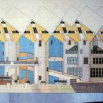Küp Evler / Piet Blom perspektif