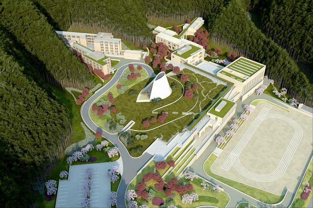 Miho Estetik Enstitüsü, I.M. Pei - masterplan