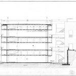 Salk Enstitüsü / Louis Kahn Kesit