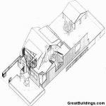 Gehry Evi (Gehry Residence) / Frank Gehry aksonometrik çizim