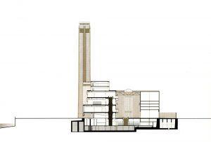 Tate Modern / Herzog & de Meuron Kesit