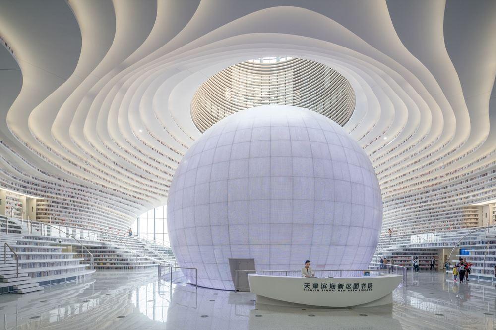 Tianjin Binhai Kütüphanesi - MVRDV