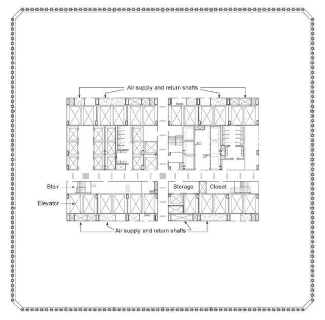 Dünya Ticaret Merkezi - İkiz Kuleler / Minoru Yamasaki plan