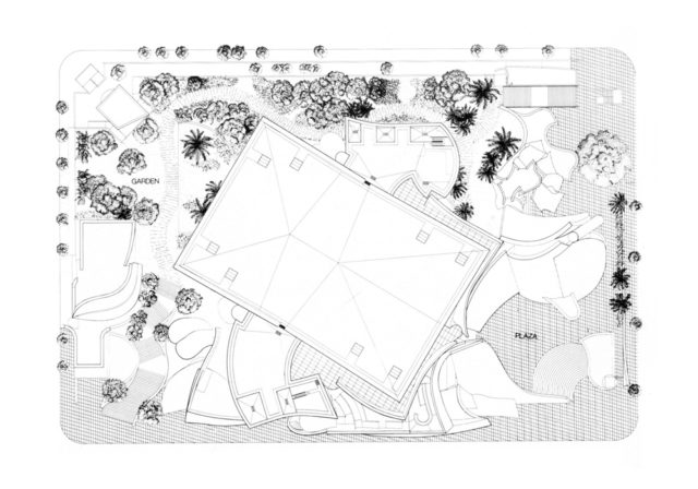 Walt Disney Konser Salonu - Frank Gehry vaziyet planı