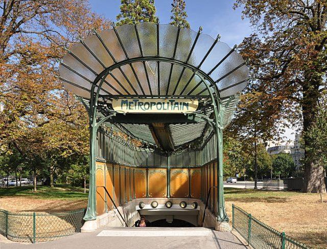 Paris Metro Girişleri - Porte Dauphine girişi