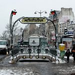 Paris Metro Girişleri - Pere Lachaise girişi