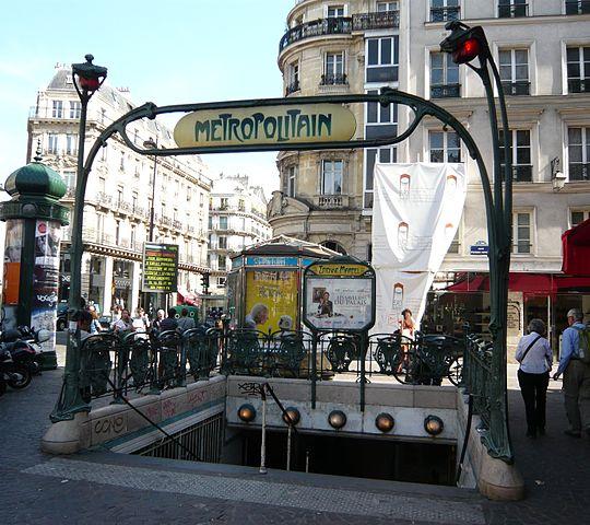 Paris Metro Girişleri - Etienne Marcel girişi