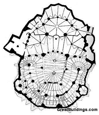 Colonia Güell - Antoni Gaudi plan