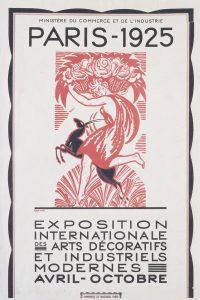 Art Deco The Exposition des Decorative Arts Paris Sergi Afişi