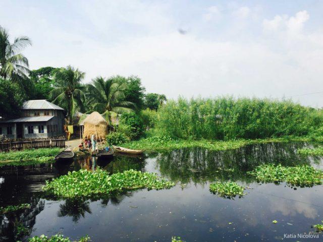 Bangladeş'te Yüzen Kent