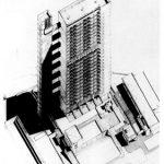 Trellick Kulesi - Ernö Goldfinger aksonometrik