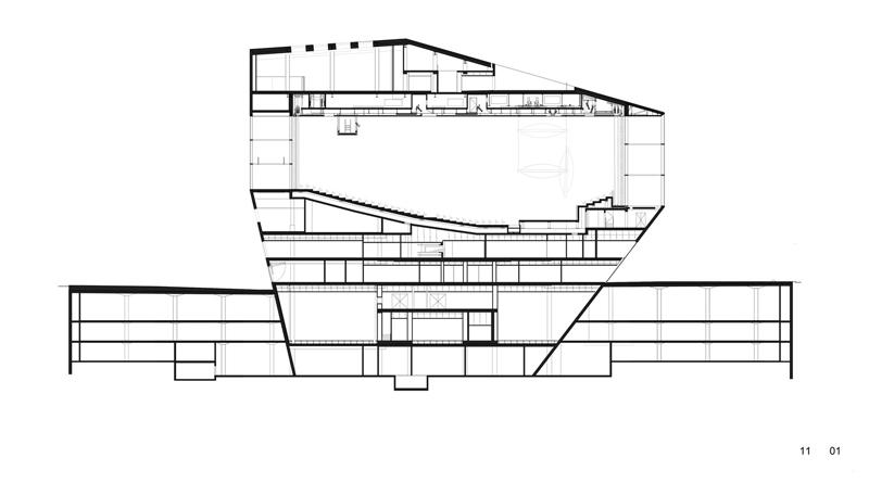 Casa da Musica / OMA kesit
