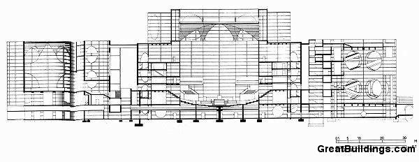 Bangladeş Ulusal Meclis Binası / Louis Kahn kesit
