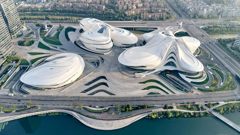 Changsha Meixihu Uluslararası Kültür ve Sanat Merkezi / ZHA