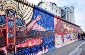 Berlin Duvarı Graffiti. Berlin, Almanya